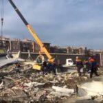Появилось видео с места взрыва супермаркета во Владикавказе