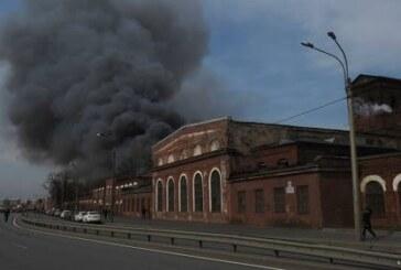Ранг пожара в здании «Невской мануфактуры» в Петербурге понизили