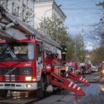 Из сгоревшей гостиницы госпитализированы 10 детей: прибыли на патриотический слет