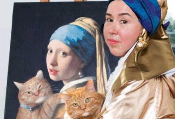Питерский кот Заратустра стал частью мирового живописного наследия