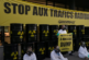 Французский Greenpeace протестует против вывоза радиоактивных отходов в Сибирь