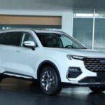 Засвечен салон нового трёхрядного Ford Equator: кросс получил табло, как у младшего Edge