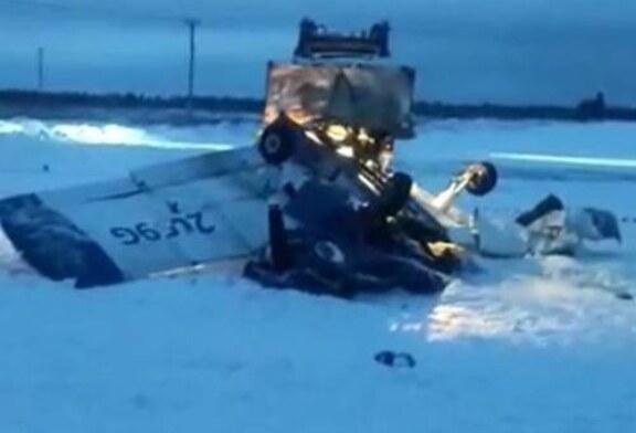 Два самолета столкнулись под Петербургом, один упал, погибли люди