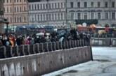 В Петербурге арестовали напавшего на сотрудников ДПС на незаконной акции