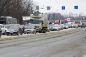 Водителей пообещали не штрафовать в метель за «невидимую разметку»